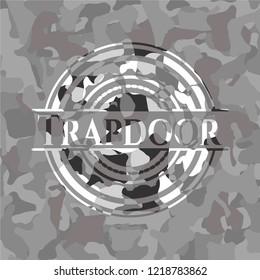 Trapdoor grey camouflage emblem