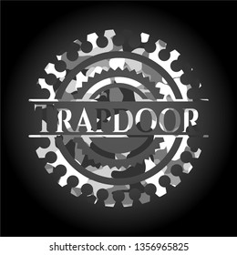 Trapdoor grey camouflaged emblem