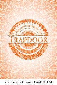 Trapdoor orange mosaic emblem