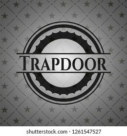 Trapdoor realistic black emblem
