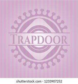 Trapdoor vintage pink emblem