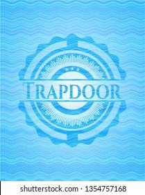 Trapdoor water wave badge.