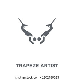 Trapeze artist icon. Trapeze artist design concept from Circus collection. Simple element vector illustration on white background.