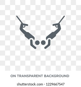 Trapeze artist icon. Trapeze artist design concept from Circus collection. Simple element vector illustration on transparent background.