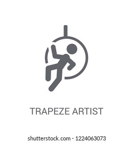 Trapeze artist icon. Trendy Trapeze artist logo concept on white background from Circus collection. Suitable for use on web apps, mobile apps and print media.