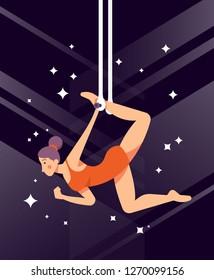 Trapeze Artist Illustration. on vector eps.10