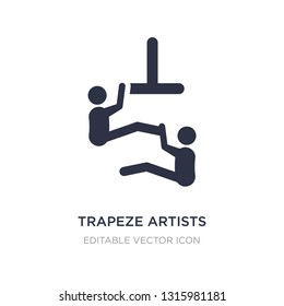 trapeze artists icon on white background. Simple element illustration from Animals concept. trapeze artists icon symbol design.