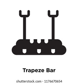 Trapeze Bar icon vector isolated on white background, logo concept of Trapeze Bar sign on transparent background, filled black symbol