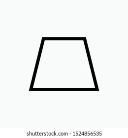 Trapeze Geometric Basic Shape Icon - Vector, Sign and Symbol for Design, Presentation, Website or Apps Elements.