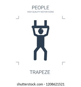 trapeze icon. high quality filled trapeze icon on white background. from people collection flat trendy vector trapeze symbol. use for web and mobile