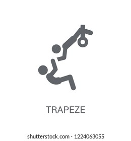 trapeze icon. Trendy trapeze logo concept on white background from Circus collection. Suitable for use on web apps, mobile apps and print media.