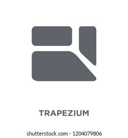 Trapezium icon. Trapezium design concept from Geometry collection. Simple element vector illustration on white background.