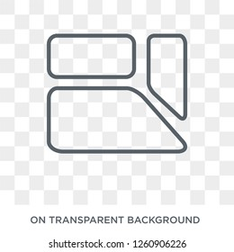 Trapezium icon. Trapezium design concept from Geometry collection. Simple element vector illustration on transparent background.