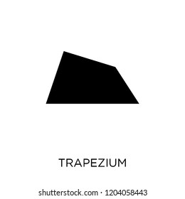 Trapezium icon. Trapezium symbol design from Geometry collection. Simple element vector illustration on white background.