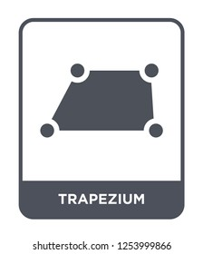trapezium icon vector on white background, trapezium trendy filled icons from Geometric figure collection, trapezium simple element illustration
