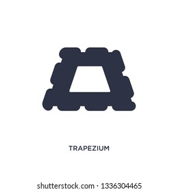 trapezium isolated icon. Simple element illustration from geometry concept. trapezium editable logo symbol design on white background. Can be use for web and mobile.