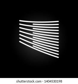 Trapezius, organ neon icon. Elements of human organ set. Simple icon for websites, web design, mobile app, info graphics