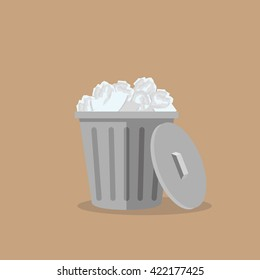 Trash bin garbage vector