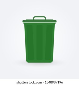 Trash bin icon. Garbage can. Vector illustration.