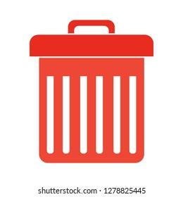 trash bin icon-garbage illustration-recycling isolated- junk basket icon-delete illustration