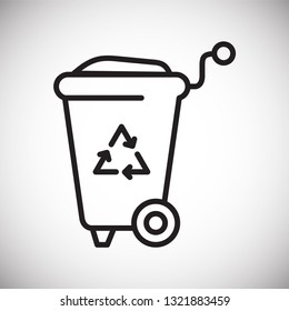 Trash bin line icon on white background for graphic and web design b140a353a340