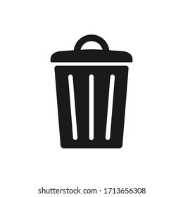 Trash bin vector icon, garbage, dustbin icon isolated on white background.