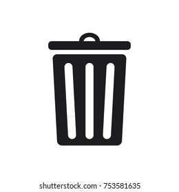 trash bin vector icon, garbage, dustbin icon