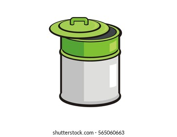 trash bin/trash barrel simple illustration