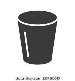 Trash can or bin icon symbol in vector