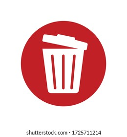 trash can and delete icon on computer