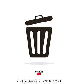 Trash can. Disposal waste. Recycle Icon Vector