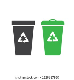 Trash can. Dustbin and container trash vector illustration