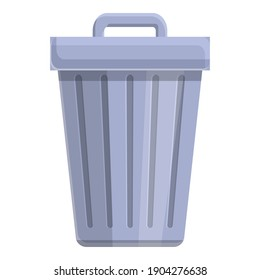 Trash can icon. Cartoon of trash can vector icon for web design isolated on white background