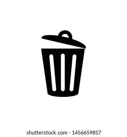 trash can icon flat design - Icon (eps - black line)