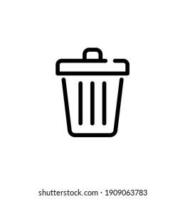 Trash can icon. Recycle bin. Delete or remove symbol for UI design.