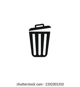 Trash can icon symbol