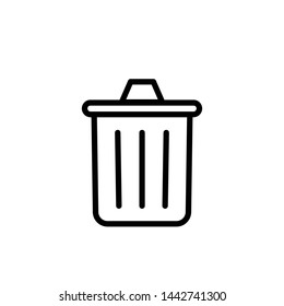 trash can icon, symbol design template