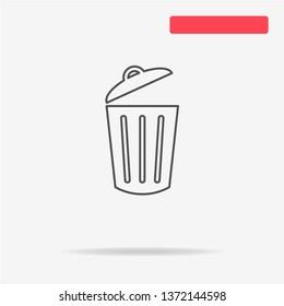 Trash can icon. Vector concept illustration for design.