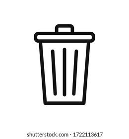 Trash can icon vector. Delete sign