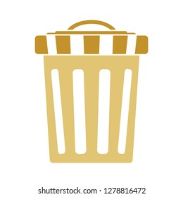 trash can icon-garbage illustration-recycling isolated- junk basket icon-delete illustration