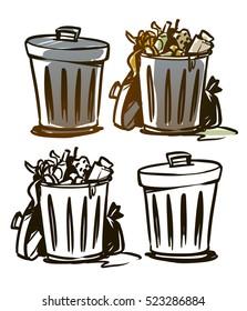 trash can illustration
