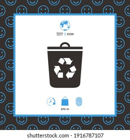 Trash can, recycle bin icon, elements for your design