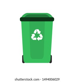 Trash can. Recycling garbage. Vector illustration.