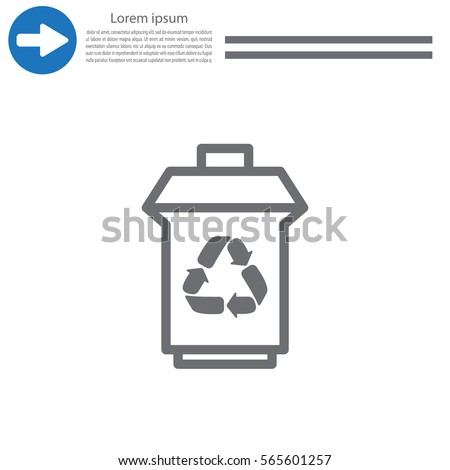 Trash Can Recycling Symbol Icon Stock Vector Royalty Free