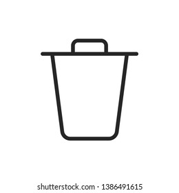 Trash Can Social Media Icon Isolated On White Background. Deleted Symbol Modern Simple Vector For Web Site Or Mobile App