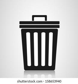 Trash can symbol