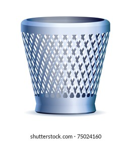 Trash can, vector eps version 8