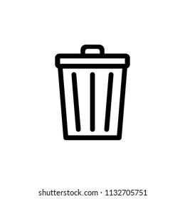Trash icon. Bin icon. Trash can vector. Delete icon.