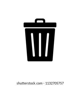 Trash icon. Bin icon. Trash can vector. Delete icon