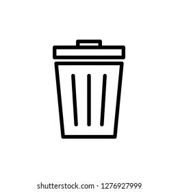 Trash icon. trash can icon. Delete icon vector
